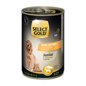 "Das Nassfutter ""SELECT GOLD Sensitive Junior""."